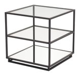 Kure End Table Distressed Black