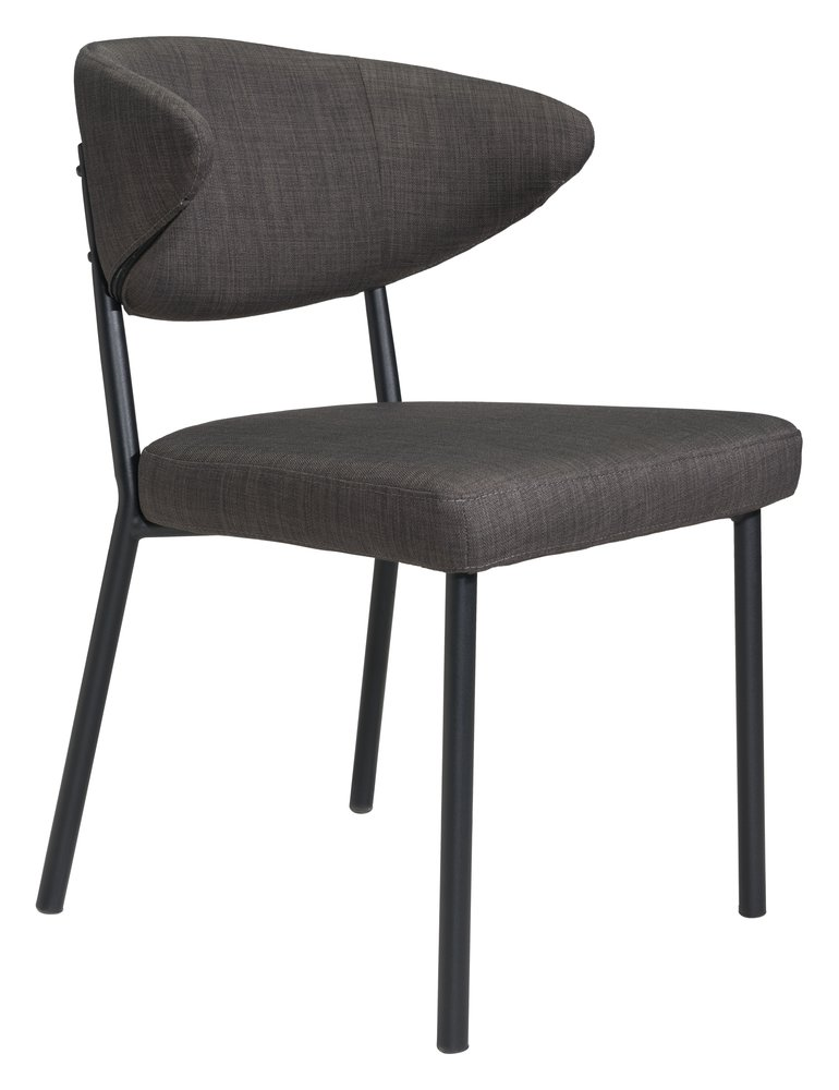 Pontus Dining Chair Charcoal Gray ( Set of 2 Units )