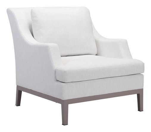 Ojai Arm Chair Champagne White