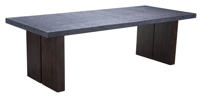 Windsor Dining Table Gray & Natural