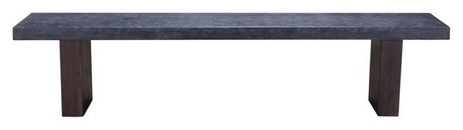 Windsor Bench Gray & Natural