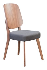 Alberta Dining Chair Walnut & Dark Gray (Set of 2)