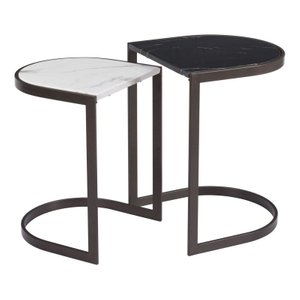 Stanton Nesting End Tables Black/White