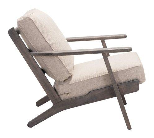 Tahoe Lounge Chair Beige & Dark Brown