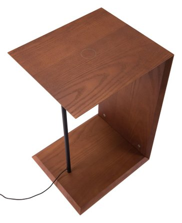 Chester Wireless Charging Side Table Walnut