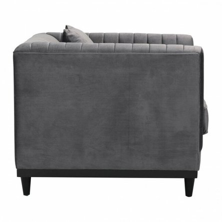 Garland Arm Chair Gray Velvet