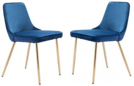 Merritt Velvet Dining Chair Navy (Set of 2)