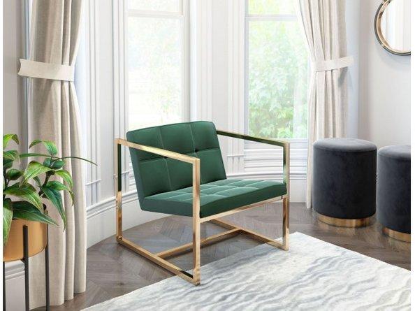 Alt Arm Chair Green Velvet