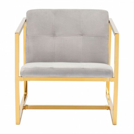 Alt Arm Chair Gray Velvet