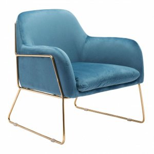 Nadir Arm Chair Blue Velvet