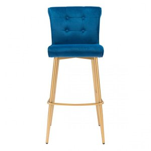 Niles Bar Chair Blue Velvet
