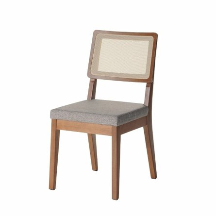 Pell Dining Chair Gray/Maple Cream