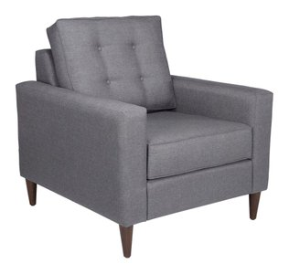 Campbell Sofa + Arm Chair Set Dark Gray