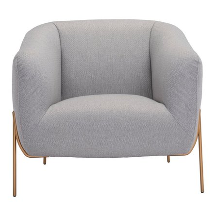 Micaela Arm Chair Gray And Gold