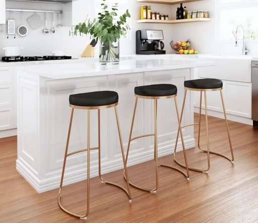 Bree Barstool Black And Gold (Set of 2)
