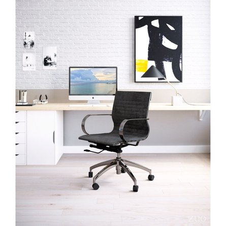 Kano Office Chair Black Velvet