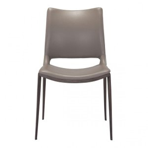 Ace Dining Chair Gray And Walnut (Set of 2)