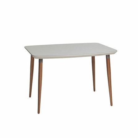 """Charles 45.27"""" Dining Table Off White"""