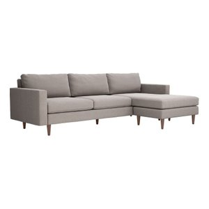 Kace Reversible Sectional Sofa Feather Gray