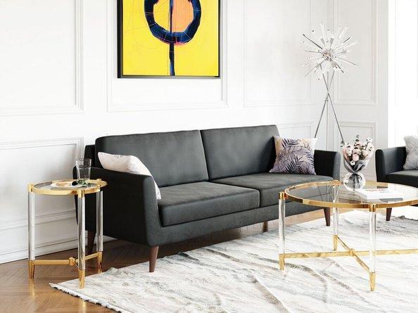 Mirabelle Sofa Charcoal Velvet