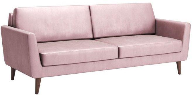 Mirabelle Sofa Pink Velvet