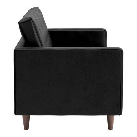 Puget Sofa Black Velvet