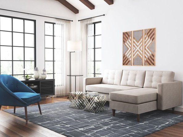 Puget Right Extended Sectional Ash Gray
