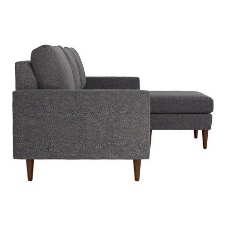 Kace Reversible Sectional Sofa Slate Gray