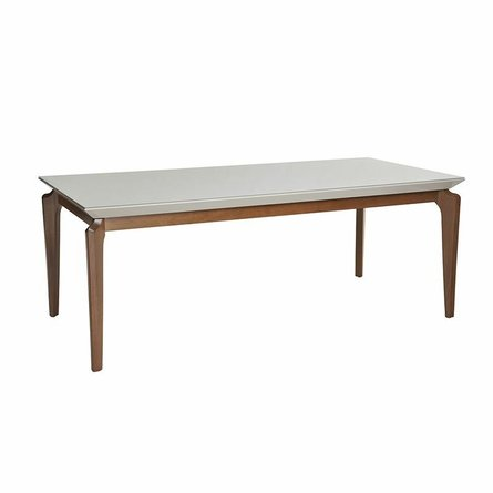 """Payson 82.67"""" Dining Table Off White"""