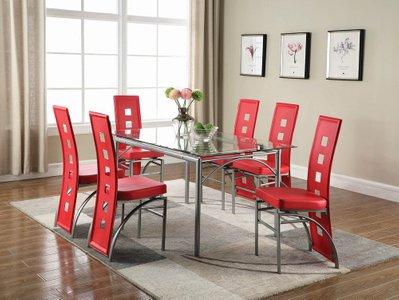 Los Feliz Contemporary Metal Dining Table Matte Silver