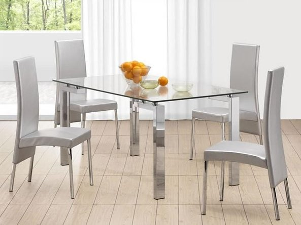 Roca Dining Table Stainless Steel