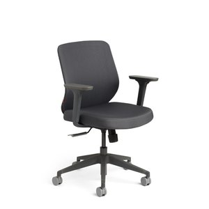 Tumer Task Chair Dark Gray Charcoal Frame
