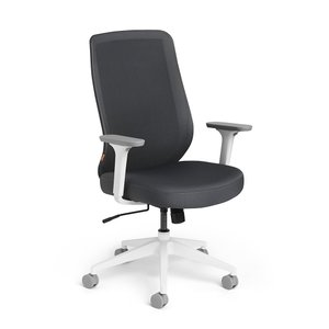 Tumer Task Chair High Back Dark Gray White Frame