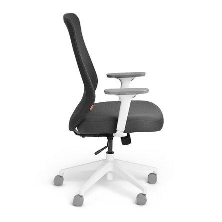 Max Task Chair High Back, White Frame Dark Gray