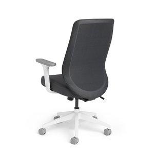Tumer Task Chair High Back Dark Gray White Frame