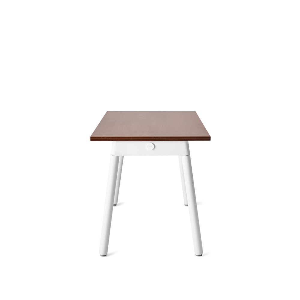 """For Rent San Francisco Bay Area: Series A Single Desk For 1, Walnut, 57"""", White Legs In SF"""
