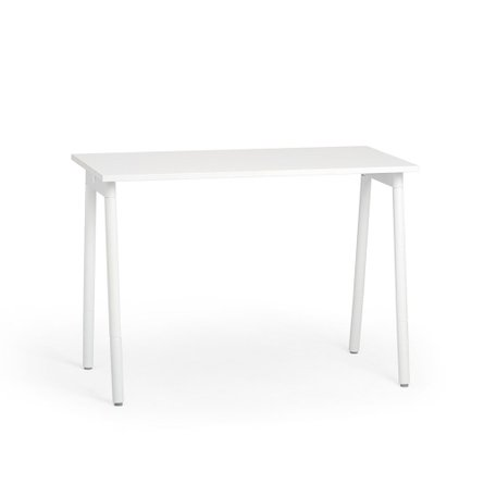 "Watson Standing Single Desk 57"", White Legs"