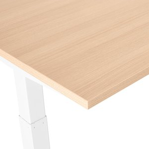 Frank Standing Single Desk Natural Oak