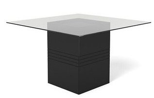Perry Sleek Tempered Glass Table Black