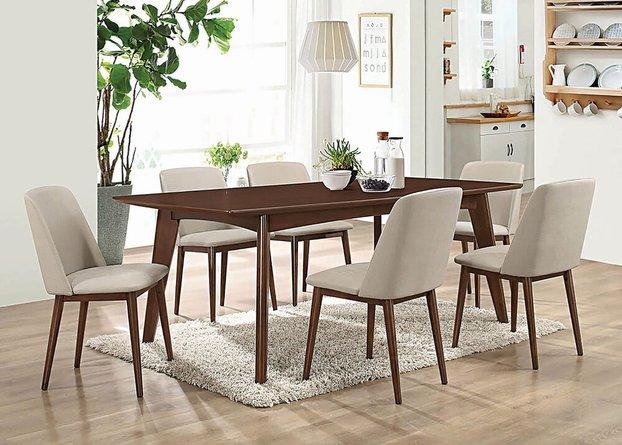 Barett Modern Dining Chair Gray And Chestnut (Set Of 2)