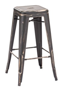 Marius Barstool Antique Black Gold (Set of 2)