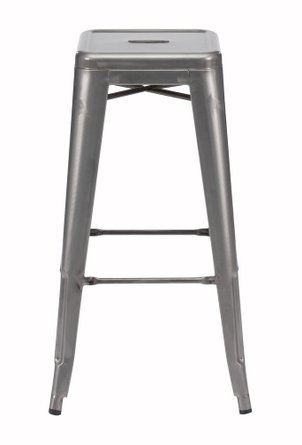 Marius Bar Stool Gunmetal (Set Of 2)