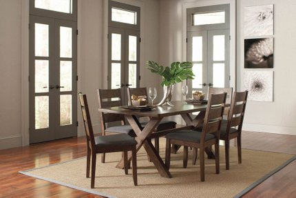 Alston Dining Chair Rustic Knotty Nutmeg And Gray (Set Of 2)