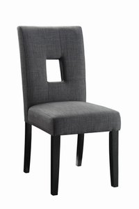Andenne Transitional Dining Chair Gray (Set Of 2)