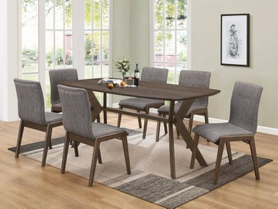 McBride Retro Dining Table  Warm Brown