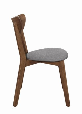 Alfredo Dining Chair Natural Walnut (Set Of 2)