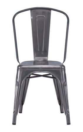 Elio Dining Chair Gunmetal (Set of 2)