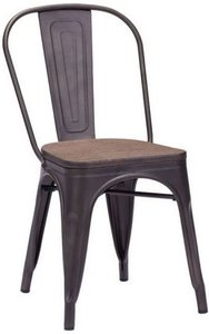 Elio Chair Rusty+Elm Wood Top (Set of 2)