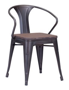 Helix Dining Chair Rusty+Elm Wood Top ( Set of 2 Units )