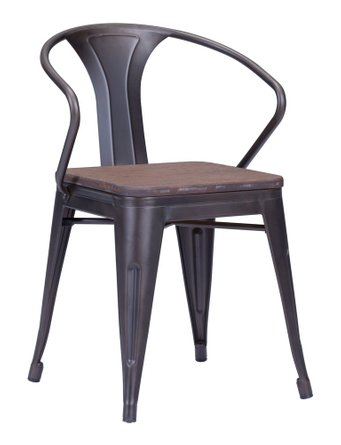 Helix Dining Chair Rusty+Elm Wood Top (Set of 2 Units)
